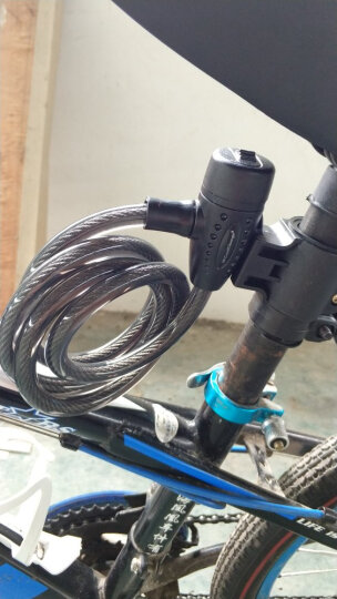 酷改(Coolchange) 打气筒自行车便携式高压汽车摩托车电动车美法嘴篮球气球充气筒迷你家用气筒 17016+加粗车锁套装 晒单图