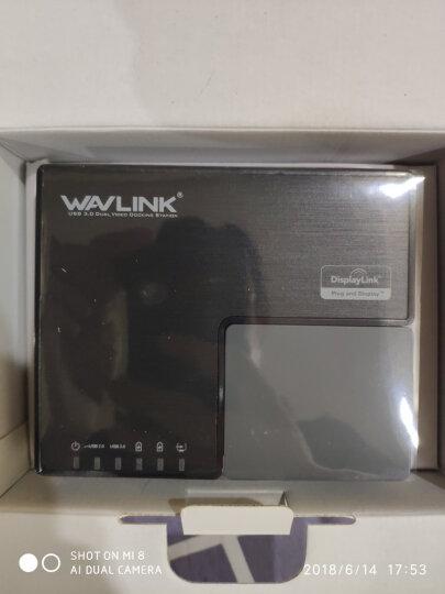 睿因(Wavlink)WL-UG39DK3 usb3.0台式微软苹果笔记本外置显卡1拖2多屏转换器千兆网卡HUB多功能扩展坞 晒单图