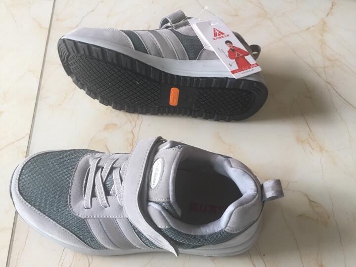 足力健老人鞋秋季健步休闲鞋安全鞋男女中老年运动爸爸鞋 灰色(男款) 42 晒单图