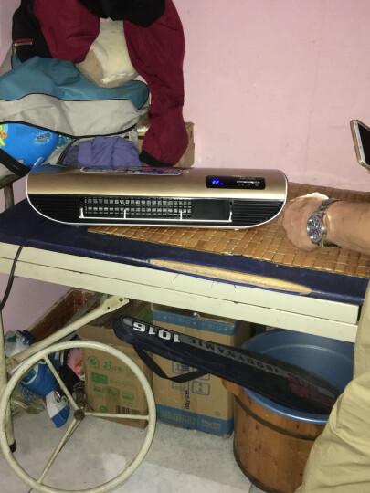 物有物语  家用小型空调 迷你冷暖取暖器创意家用壁挂浴室办公室可移动遥控空调 微型暖风机 金色遥控手动两用款 晒单图