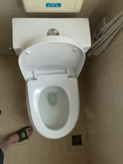 马桶盖通用座便盖子 ssww浪鲸CO1127 马桶圈老式坐便器盖板加厚大u型抽水马桶厕所板 脲醛仿瓷(金属支架增强版 不发黄不发霉) 晒单图