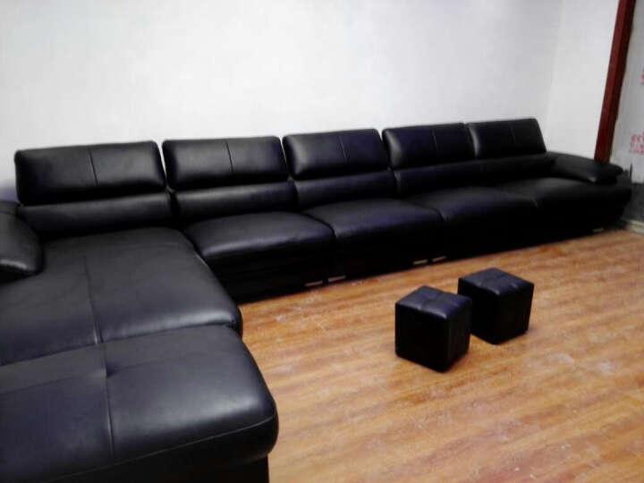 伊甸嘉园 真皮沙发可定制头层黄牛皮大小户型组合皮艺沙发L转角客厅简约后现代组合 1+2+贵妃(纳帕皮) 晒单图