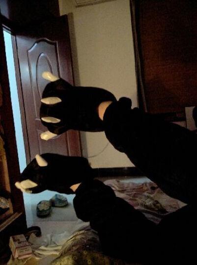 宾尼熊 秋冬情侣加厚柔软保暖法兰绒长袖龙猫卡通动物连体睡衣男女 豹纹连帽休闲前扣家居服套装 熊猫 M身高158到167cm单件睡衣+关注送卡通眼罩 晒单图