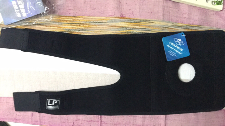 LP 篮球护膝 跑步登山健身骑行徒步膝盖运动护具 双弹簧支撑 透气绑带型733系列 733KM男女通用单只装 均码(不分左右) 晒单图