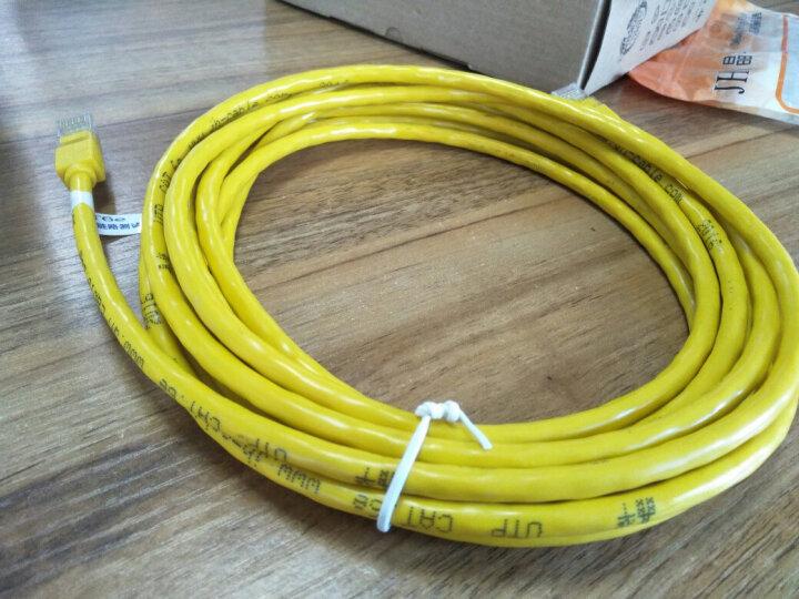 晶华(JH)1434 高速超六类网线 原装工程级千兆网络连接线 无氧铜导体跳线福禄克链路测试高速传输 5米兰色 晒单图