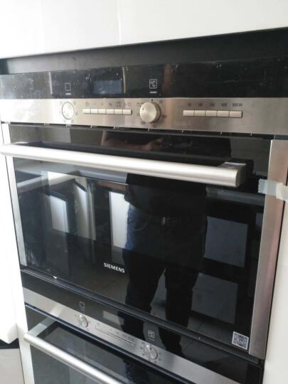 西门子(SIEMENS)嵌入式微波炉烤箱下拉式 家用厨房微波烘培双重HB84H550W 晒单图