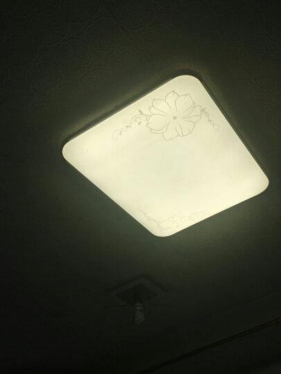 灯饰客厅灯北欧灯具套餐房间灯卧室灯长方形大灯led客厅吸顶灯餐厅灯阳台灯大厅灯浴室灯温馨简约现代简约 21厘米吸顶灯适用厨房门厅厨卫卫生间等平板天花吊顶 晒单图