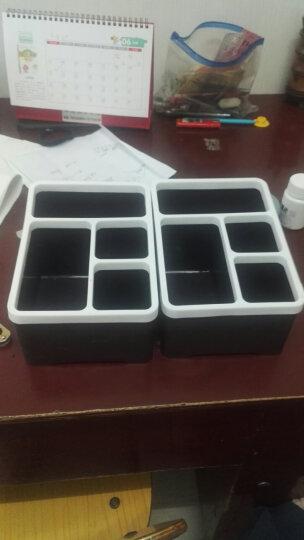 乐服 糖果色多功能小件整理盒 遥控器收纳盒纸巾盒办公抽屉储物盒 破损补发 咖啡色 晒单图