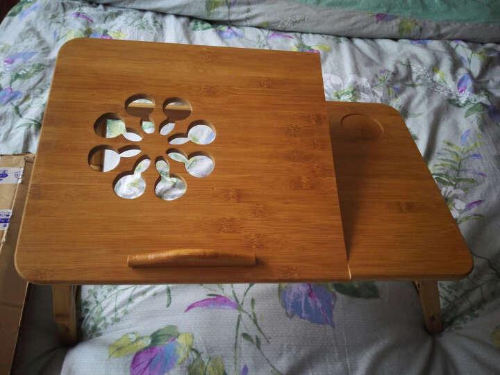 京好 床上电脑桌子 现代简约环保楠竹可折叠升降平板笔记本简易支架A60 大号平面电脑桌 快递送货 晒单图