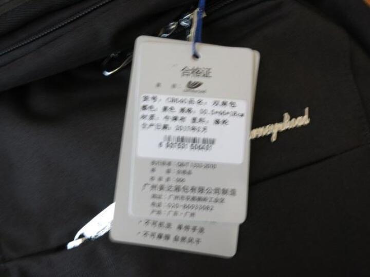卡尼路carneyroad休闲双肩包男士背包旅行包灰色CR-640 晒单图