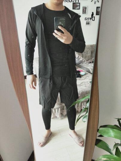 范斯蒂克 运动套装男健身服夏秋季速干透气短袖弹力紧身衣篮球运动服跑步健身房训练 反光印花六件套 TC1784 L 晒单图