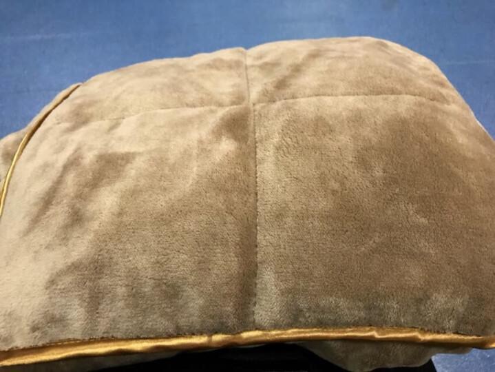 御棉堂 多功能创意抱枕被两用双面加厚保暖法兰绒夹绒护腰靠垫办公室午睡枕车载抱枕被 咖啡色110*150cm 晒单图