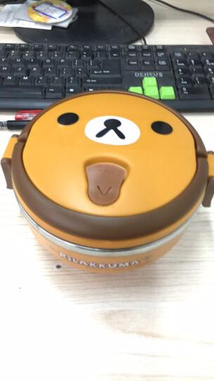 特儿福(TEERFU) 特儿福 儿童餐具套装 手提保温饭盒宝宝碗婴儿餐具不锈钢小学生饭盒 快乐小熊(黄色) 饭盒 晒单图