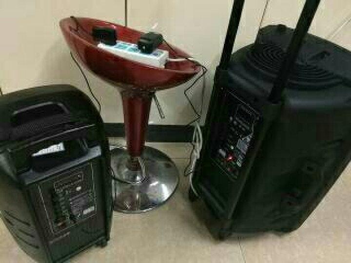 SAST/先科 15A 大功率广场舞音箱 拉杆音响户外音箱便携式移动蓝牙手提 15寸彩灯标配+带屏手麦2支+1U段话筒 晒单图