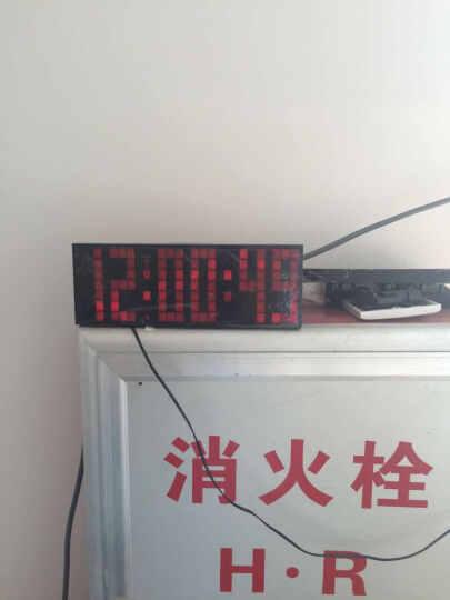 KOSDA钟表 闹钟创意静音夜光多功能电子钟 LED数字倒计时器多组闹铃座钟时钟数码万年历 红色-大摇控 6位7段 晒单图