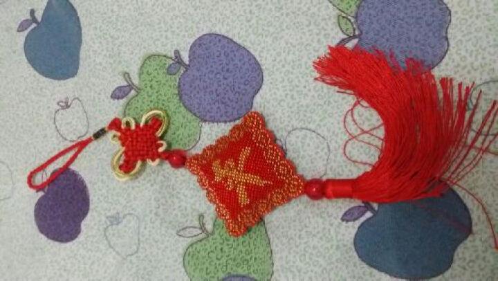 鸿胤蒙娜丽莎 十字绣车挂件平安符汽车挂件带中国结满珠绣新款吊坠印花钥匙扣车饰挂饰 FH022单件(套件) 长0.1米*宽0.1米 晒单图