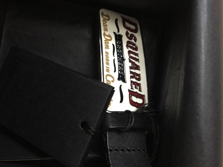 DSQUARED2 迪斯克·沃瑞德 男款黑色牛皮杏色板扣做旧皮带腰带 S14BE1044 V354 2124 M码 晒单图