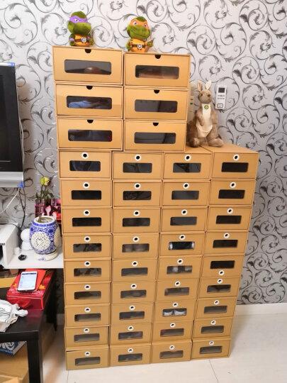 鞋盒透明抽屉式纸盒整理盒环保加厚桌面收纳盒鞋子包装盒靴盒男女鞋盒收纳箱收纳盒储物盒 高跟4号6个 晒单图