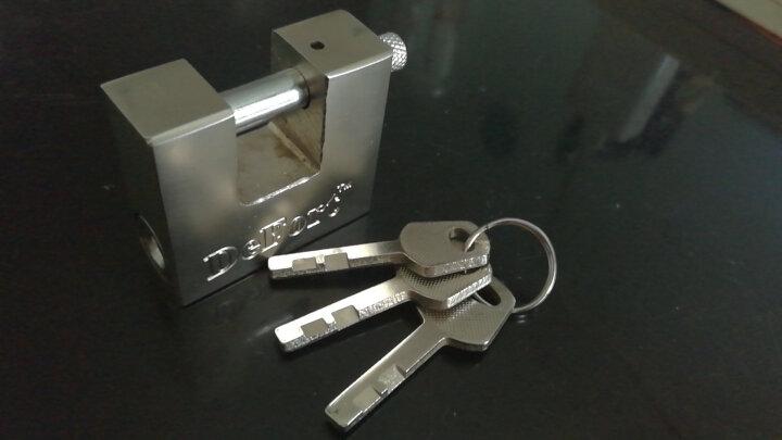 KOB 矩形横开挂锁 护梁防剪锁 仓库挂锁 横开推杆锁 防水防锈 不通开 50mm规格 晒单图