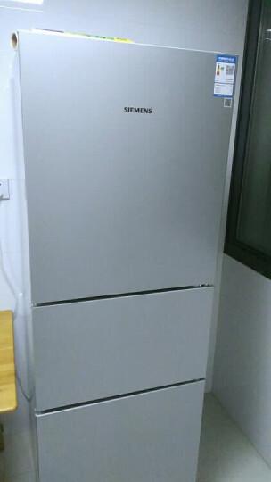 西门子(SIEMENS) 274升 三门冰箱 零度保鲜 滤膜保湿 LED内显(拉丝银) BCD-274(KG28FA29EC) 晒单图