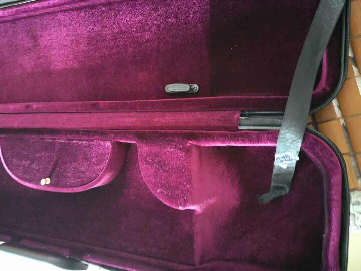 新型双肩背二胡盒子 ABS树脂琴盒 防盗密码锁湿度计 二胡硬包配件 亚光黑+银质二胡弦+8010松香 晒单图