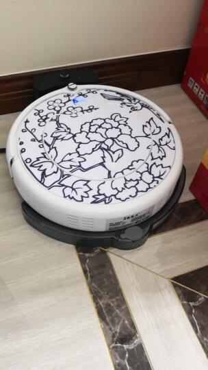 登科清道夫扫地机器人家用全自动充电智能吸尘器拖地机智能规划清扫一体机 青花瓷 梅花喜鹊 晒单图