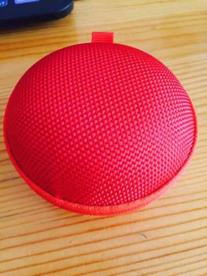 JIXINI纪希尼 便携耳机线收纳包防压耳机包耳机盒防震数据线充电器包零钱包数码配件保护包 雅典红 晒单图