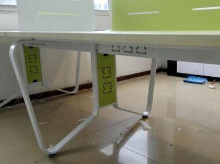汉晨(HC) 北京办公家具办公桌 时尚屏风办公桌职员卡座工作位职员桌组合员工桌办公桌 直排双人位+活动柜+职员椅 晒单图