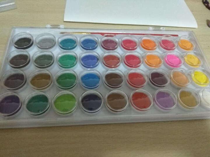 乔尔乔内 儿童固体粉饼水彩颜料套装 36色(送水彩笔1支) 单盒 晒单图