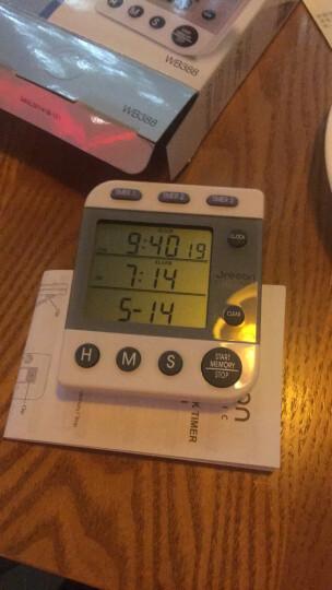 欧西亚闹钟 电子数显计时器厨房用实验室用三通道闹铃WB388 晒单图