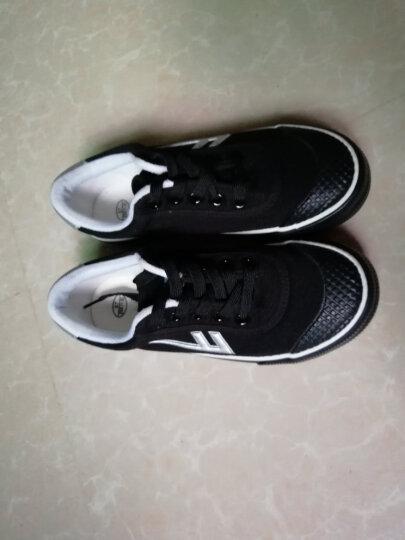 回力(Warrior) 男女儿童帆布鞋/儿童碎钉足球鞋/品牌童鞋 黑色 37内长23cm 晒单图