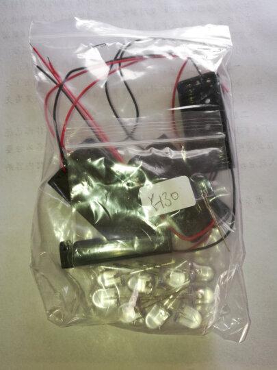 TaoTimeClub 10MM/F10 圆头LED灯 发光二极管灯 超高亮 发光管 灯珠 10mm白发白光(10个) 晒单图