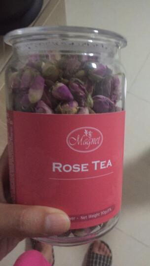 曼宁玫瑰花茶 原装进口玫瑰茶叶 法兰西玫瑰花草茶 女士下午茶 玫瑰花茶90g(大罐) 晒单图