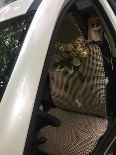 尼罗河(NILE)汽车坐垫 夏季纯手编冰丝坐垫 凉垫 四季通用车垫/座垫 时光盛宴-驼色 沃尔沃S4O/XC60 晒单图