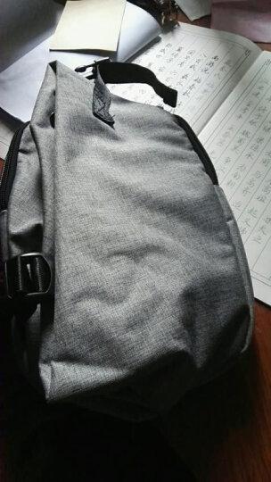 【一趣AFUN】男士胸包帆布休闲 斜挎包男单肩包运动背包男士挎包跨肩包 便捷腰包男户外 灰色 晒单图