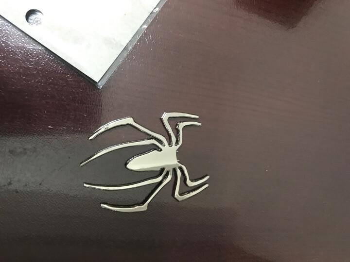 老周家 加厚实心纯金属壁虎车贴3D立体个性汽车装饰用品庇护贴纸 蜘蛛天使恶魔脚丫车贴 蜘蛛银色1个 晒单图