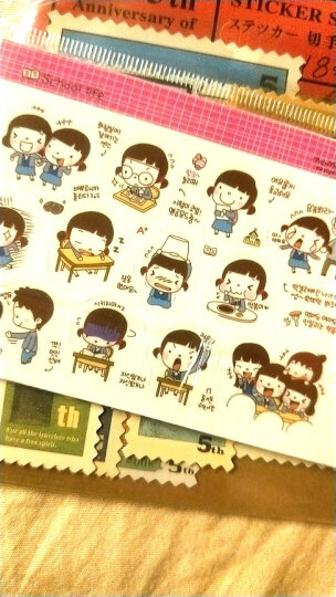 复古旅行邮票贴纸 手账本贴纸 一套4张18枚 晒单图
