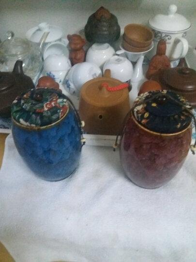 添尚 茶叶罐 陶瓷窑变茶具醒茶罐 密封储蓄罐红茶普洱茶罐 款式3窑变茶叶罐-酒红 晒单图