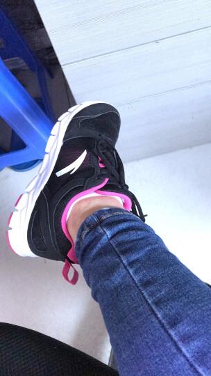 安踏跑步鞋女鞋运动鞋女2019年夏季新款慢跑鞋透气休闲鞋子 黑/安踏白 38 晒单图