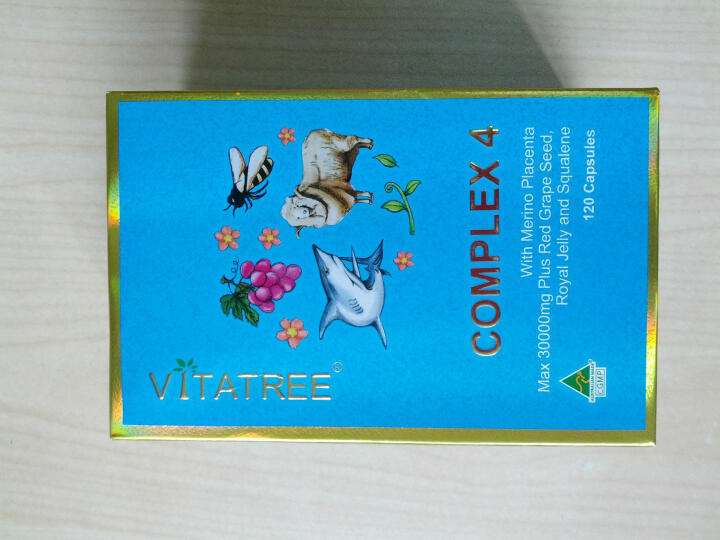 维他树(VITATREE) 澳洲葡萄籽维生素E羊胎素蜂王浆角鲨烯120粒美容美白(进口保健品) 晒单图