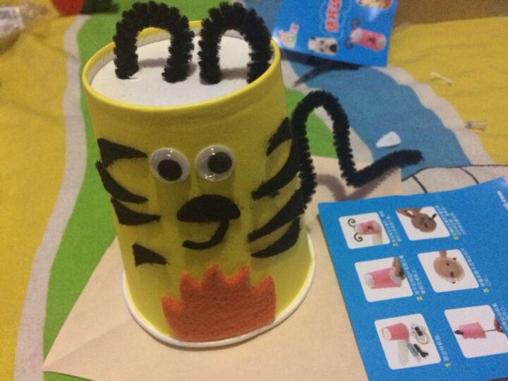 艺趣幼儿园儿童手工制作材料包3-6岁diy创意益智亲子玩具宝宝自制纸杯动物摆件新年春节元宵环创美劳 绿巨人纸杯夜灯(带小灯) 晒单图