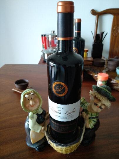 欧式玩偶个性时尚红酒架摆件欧式高档摆设杯架树脂创意葡萄酒架酒杯架 牛仔猪背酒 晒单图
