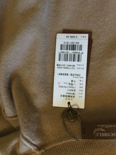 鳄鱼恤男士纯羊绒衫男100%山羊绒纯色两翻高领套头毛衣基础打底衫 点子红 175/92A(110cm) 晒单图