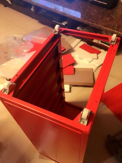 震海 办公家具 彩色六斗柜 文件柜 铁皮柜办公柜资料柜档案柜子 抽屉矮柜 六斗收纳柜 红色 690x280x410mm 晒单图