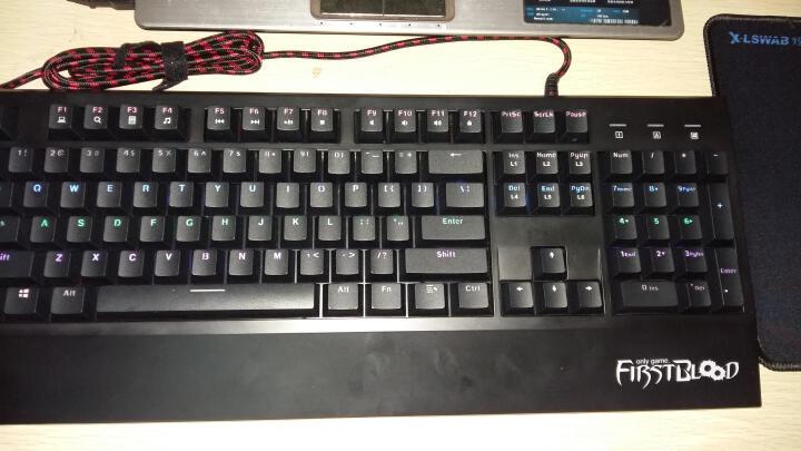惠普(hp)  GK1000机械手感键盘鼠标套装笔记本家用有线游戏键鼠套装 AK35 107键白色黑轴混光合金版 晒单图