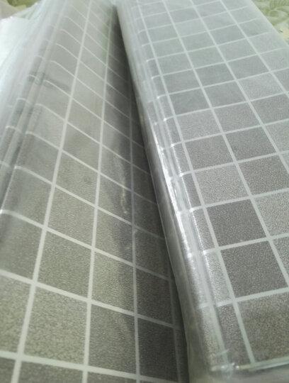 青苇 厨房防油烟贴纸 铝箔 防油污抽屉贴纸 防水可自粘 咖色马赛克 8张装 晒单图