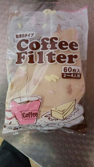 NISHIKI 日本手冲咖啡滤纸滴漏咖啡机滤杯过滤纸原木加厚 60片装 晒单图