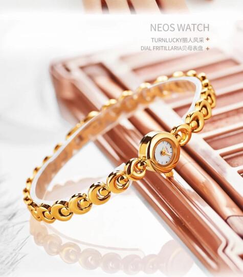 NEOS欧美手表女士时尚潮流正品牌名表非机械小表盘手链表DW女表金色金表toplife 月牙金带白面手链表/天生质感 女士 晒单图