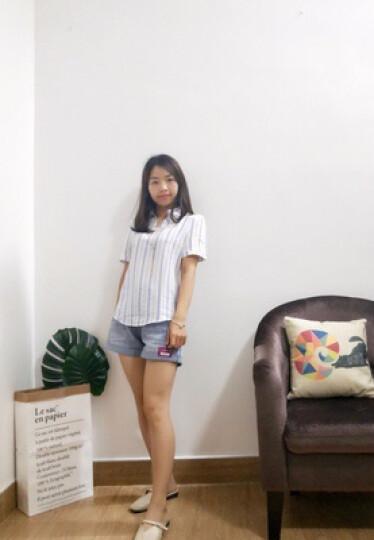 法萝迪 2019春夏新品女装牛仔外套女短款韩版修身上衣bf原宿夹克B899 蓝色 M(建议95-105斤) 晒单图