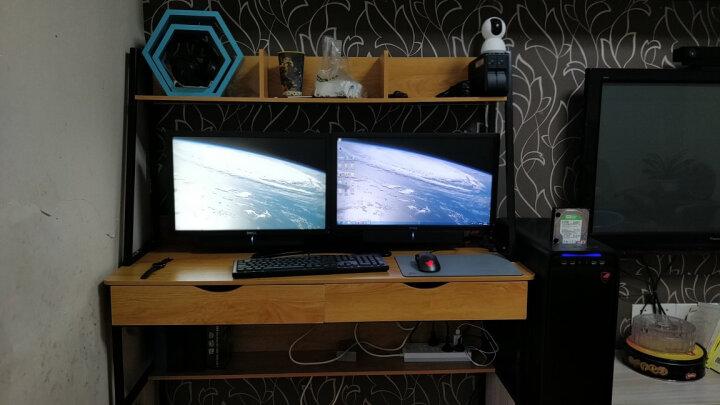 百维视(BEWISER)液晶电脑显示器支架左右双屏幕支架桌面底座摆放式vesa支架旋转竖屏DT227 适配17-27英寸显示器 黑色 晒单图